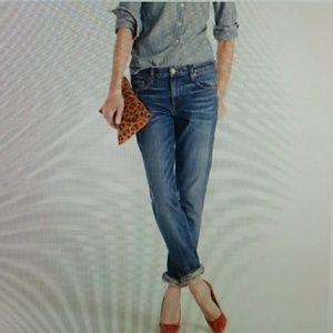 J. Crew Straight Leg Western Style Blue Jeans-NWT